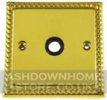 Monarch Roped Polished Brass Flex Outlet Plates